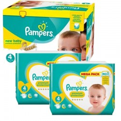 328 Couches Pampers New Baby Premium Protection taille 4