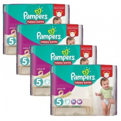 160 Couches Pampers Active Fit Pants taille 5