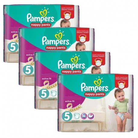 160 Couches Pampers Active Fit Pants taille 5 sur Sos Couches
