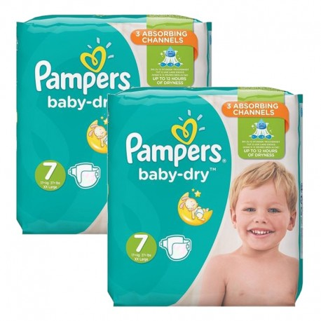 60 Couches Pampers Baby Dry taille 7 sur Sos Couches