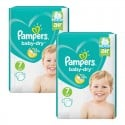 144 Couches Pampers Baby Dry taille 7 sur Sos Couches