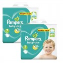116 Couches Pampers Baby Dry taille 7 sur Sos Couches