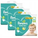 174 Couches Pampers Baby Dry taille 7 sur Sos Couches