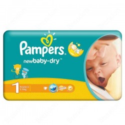 43 Couches Pampers New Baby Dry 1