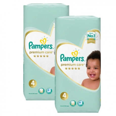 238 Couches Pampers New Baby Premium Care taille 4 sur Sos Couches