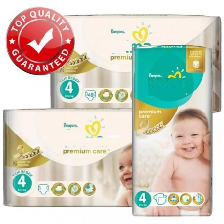 Maxi mega pack 408 Couches Pampers New Baby Premium Care taille 4 sur Sos Couches