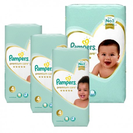 442 Couches Pampers New Baby Premium Care taille 4 sur Sos Couches