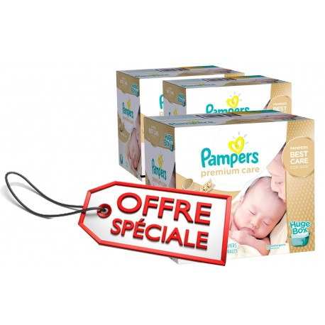 352 Couches Pampers Premium Care taille 1 sur Sos Couches