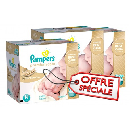 528 Couches Pampers Premium Care taille 1 sur Sos Couches