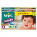 168 Couches Pampers Active Fit taille 4 sur Sos Couches