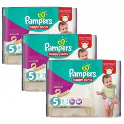 34 Couches Pampers Active Fit Pants taille 5
