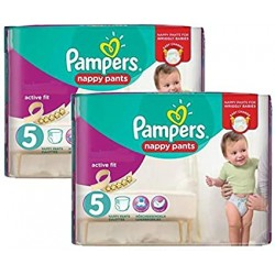 51 Couches Pampers Active Fit Pants taille 5