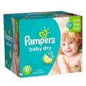 468 Couches Pampers Baby Dry taille 6 sur Sos Couches