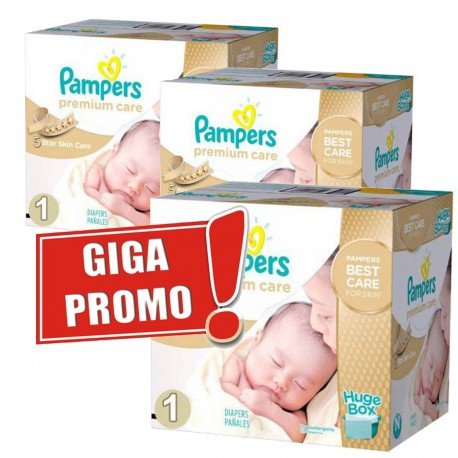 616 Couches Pampers Premium Care taille 1 sur Sos Couches