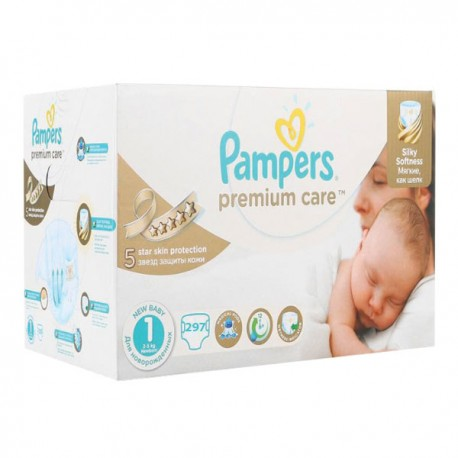 880 Couches Pampers Premium Care taille 1 sur Sos Couches