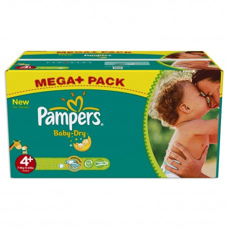 287 Couches Pampers Baby Dry taille 4+ sur Sos Couches