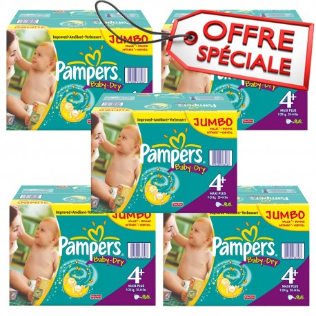 410 Couches Pampers Baby Dry taille 4+ sur Sos Couches