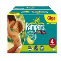 132 Couches Pampers Baby Dry taille 4 sur Sos Couches