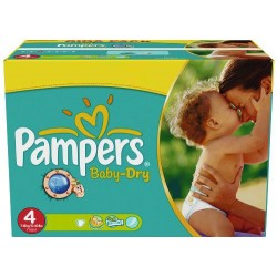 176 Couches Pampers Baby Dry taille 4