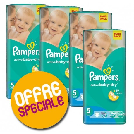 348 Couches Pampers Active Baby Dry sur Sos Couches