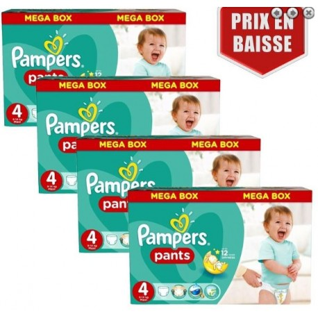 232 Couches Pampers Baby Dry Pants taille 4 sur Sos Couches