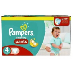 406 Couches Pampers Baby Dry Pants taille 4