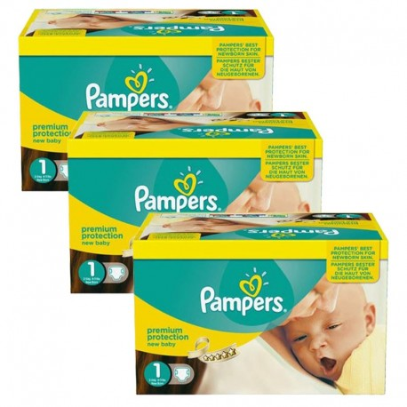 768 Couches Pampers New Baby Premium Protection taille 1 sur Sos Couches