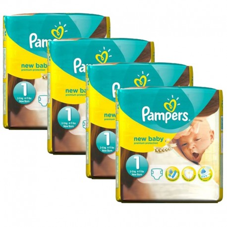864 Couches Pampers New Baby Premium Protection taille 1 sur Sos Couches