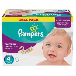 1008 Couches Pampers Active Fit Premium Protection taille 4
