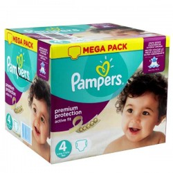1512 Couches Pampers Active Fit Premium Protection taille 4