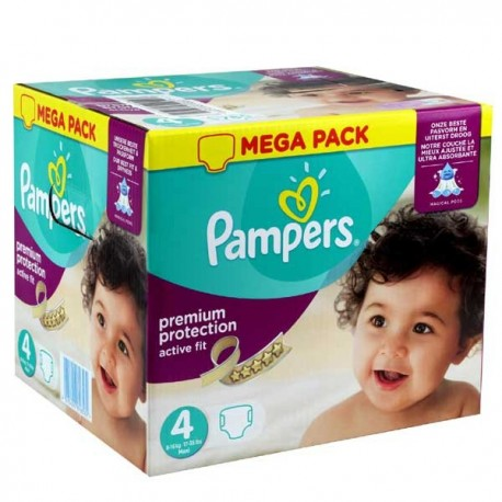 1512 Couches Pampers Active Fit Premium Protection taille 4 sur Sos Couches