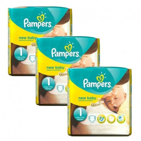 480 Couches Pampers New Baby Premium Protection taille 1 sur Sos Couches