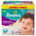 672 Couches Pampers Active Fit Premium Protection taille 4 sur Sos Couches