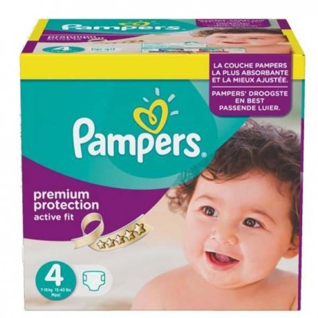 1176 Couches Pampers Active Fit Premium Protection taille 4 sur Sos Couches