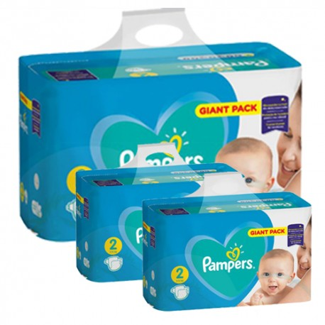 282 Couches Pampers Active Baby Dry taille 2 sur Sos Couches