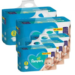 376 Couches Pampers Active Baby Dry taille 2