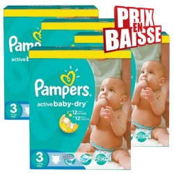 738 Couches Pampers Active Baby Dry taille 3