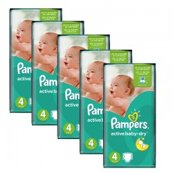 980 Couches Pampers Active Baby Dry taille 4