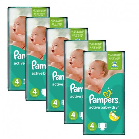 980 Couches Pampers Active Baby Dry taille 4 sur Sos Couches