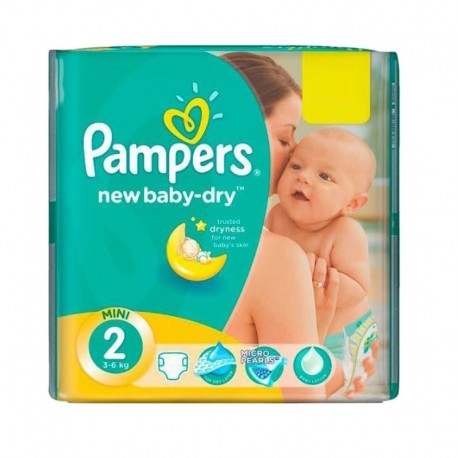 144 Couches Pampers New Baby Dry taille 2 sur Sos Couches