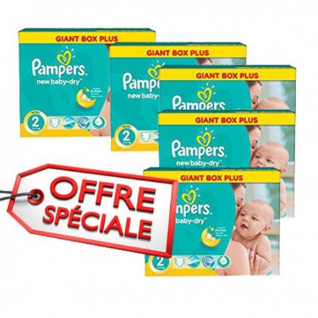 432 Couches Pampers New Baby Dry taille 2 sur Sos Couches