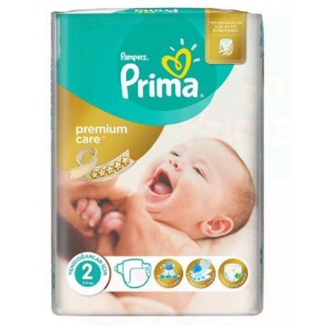80 Couches Pampers New Baby Premium Care taille 2 sur Sos Couches