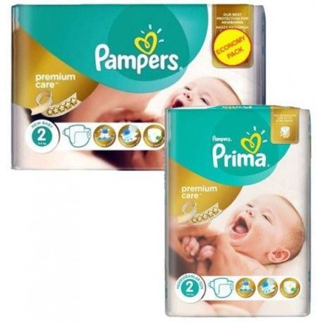 480 Couches Pampers New Baby Premium Care taille 2 sur Sos Couches