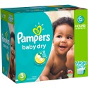 232 Couches Pampers Baby Dry taille 3 sur Sos Couches