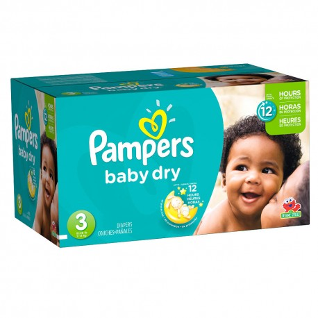 928 Couches Pampers Baby Dry taille 3 sur Sos Couches
