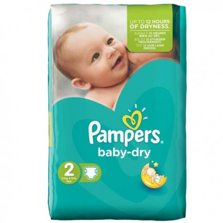 58 Couches Pampers Baby Dry taille 2 sur Sos Couches