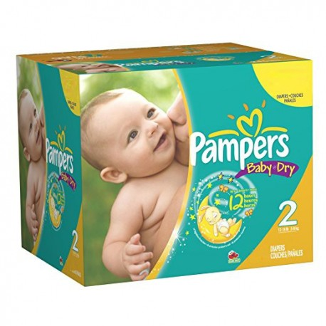 174 Couches Pampers Baby Dry taille 2 sur Sos Couches