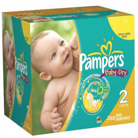 348 Couches Pampers Baby Dry taille 2 sur Sos Couches