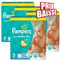 210 Couches Pampers Active Baby Dry taille 3 sur Sos Couches