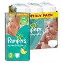 285 Couches Pampers Active Baby Dry taille 3 sur Sos Couches